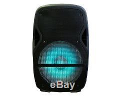 Paire Mdj 15 4000w Propulsé Passive Sono Dj Haut-parleurs Haut-parleur Actif MIC Supports