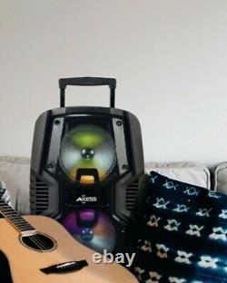 Parti Haut-parleur Loud Double 10 Withled Lumières Rechargeable Bluetooth / Radio Usb / Fm