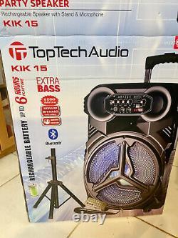 Parti Président Haut-parleur Rechargeable Avec Support Et Microphone 6000 Watts Bluetooth