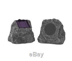 Partie De Cour Étanche Sans Fil De Haut-parleurs Extérieurs De Bluetooth De Charge Solaire 2 De Pc