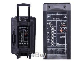 Partie Portative Extérieure Du Haut-parleur Dj Du Chariot Bluetooth De Karaoke 3000w Avec La Télécommande De Micro