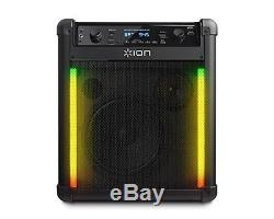 Parties Noires De Haut-parleur Bluetooth Rocker Max Du Bloc Ion Extérieures 100 Watts / Canal