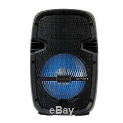 Party Box 8 Paire De Haut-parleurs Sans Fil Dj Led Bluetooth Portable Alimenté 2 Directions
