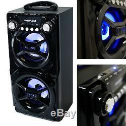 Party Système D'enceintes Bluetooth Stéréo Portable Big Led Light Up Tailgate Fort