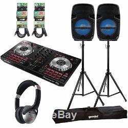 Pioneer Ddj-sb3 Contrôleur Dj Serato + Pack De Haut-parleurs Bluetooth À Del Party Box