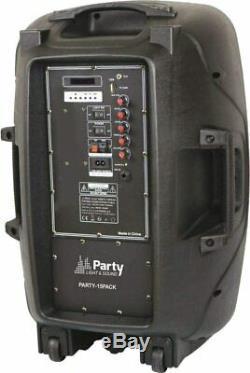 Pls 15 800w Active Speaker Pa Sound System Bluetooth Support + Microphone Sans Fil