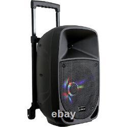 Pls 300w Portable Sound System Bluetooth Garden Party Speaker Karaoke Dj Mic, Fm