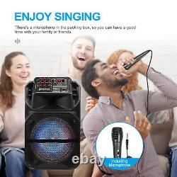 Portable 15 Bluetooth Haut-parleur Subwoofer Heavy Bass Party Dj System MIC Aux Fm