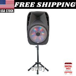 Portable Bluetooth Forte Party Party Dj 15 Pouces Grand Wireless W MIC & Stand