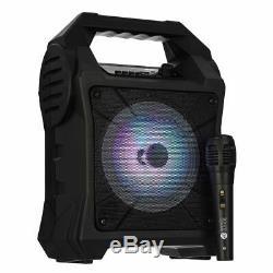 Portable Bluetooth Karaoke Party Lights Mics Led Haut-parleur Mp3 Chansons