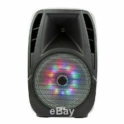Portable Haut-parleur Loud Party Bluetooth 7,500w 15 Pouces Sans Fil Microphone Et Stand