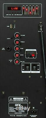 Portable Haut-parleur Loud Party Bluetooth 7500 Watts 15 Microphone Sans Fil & Support