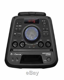 Portable Heavy Duty Bluetooth Président 2000 Idance Parti Megabox Système En Noir