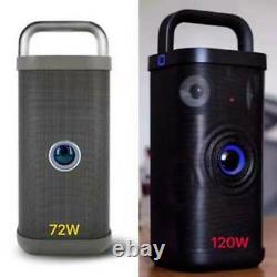 Powerful 120w Brookstone Big Blue Party Indoor Outdoor Bluetooth Speaker