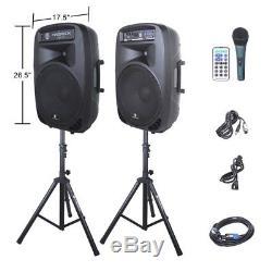 Proreck 2000w 15 Amplificateur Amplifié Mélangeur Bluetooth Usb