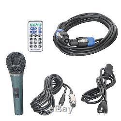 Proreck Système De Haut-parleurs De Sonorisation Amplifiés Portables 12 Pouces, 1 000 W, Bluetooth / Usb / Led