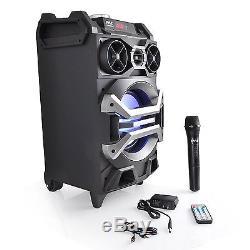 Pyle 500w Karaoke Streaming Système De Microphone MIC Haut-parleur Bluetooth Pour Dj Party
