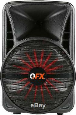 Qfx 12 Bluetooth Party App Fm Smart Speaker Pbx-12sm Pa Micro Sans Fil Stand