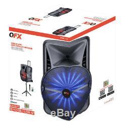 Qfx 18 Intelligent Party Pa Speaker Control App Trépied + MIC Lumières App Usb