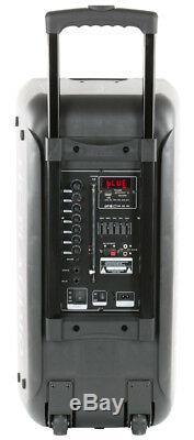 Qfx 2x10 Haut-parleur Portable Fm Parti Batterie Bluetooth Powered Radio-usb / Sd / Tf