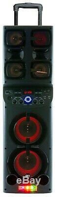 Qfx Pbx-1010 2x 6.5 Nombre De Haut-parleur Rechargeable + Tws Bluetooth + Usb / Sd / Fm / Led + MIC