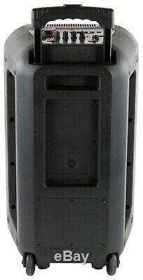 Qfx Pbx-210 Haut-parleur De Fête Rechargeable 2 X 10 + Bluetooth + Usb / Sd / Fm / Led + Micro