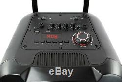 Qfx Pbx-210 Système De Haut-parleurs De Fête Karaoké Rechargeable Avec Bluetooth 2x10