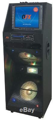 Qfx Pbx-412205 Haut-parleur De Fête Portable Bluetooth Avec Affichage À 15 Del