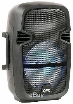 Qfx Pbx-61087 Haut-parleur De Fête Portable Avec Support Et Microphone Sans Fil