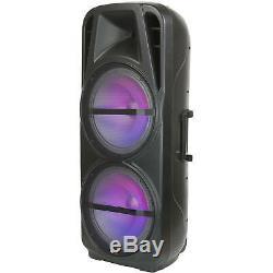 Qfx Pbx-621501 Double 15 Haut-parleurs Portables Rechargeables Party Bluetooth