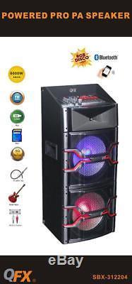 Qfx Sbx-312204 Haut-parleur Bluetooth 2x12 Haut-parleur Karaoké Usb Sd Aux