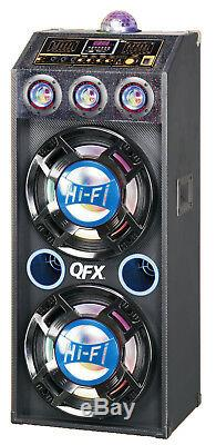 Qfx Sbx412207bt Haut-parleur Bluetooth Avec Amplificateur Intégré Pa Party