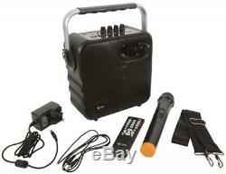 Qtx 100.607 Haut-parleur Bluetooth Portable Avec Micro Sans Fil Vhf Pour Les Fêtes Nouveau