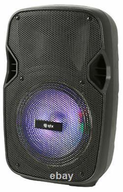 Qtx Pal8 Portable Pa Avec Bluetooth Led Fx Garden Bbq Party Speaker Batterie