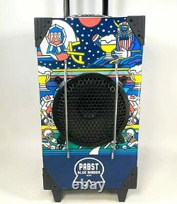 Rayons! Pbr Pabst Blue Ribbon Beer Party Speaker Portable Boombox W Guitar Amp Usb
