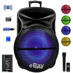 Rechargeable 18 Portable Party Dj Pa Haut-parleur Bluetooth À Distance Sans Fil MIC Mp3