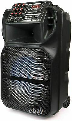 Ridgeway 12 Portable Bluetooth Party Dj Speaker Multi-lights 3600mah Batterie