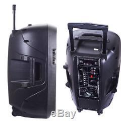Ridgeway Pro Dj 15 Enceinte De Réception Bluetooth Rechargeable Avec Télécommande, Micro