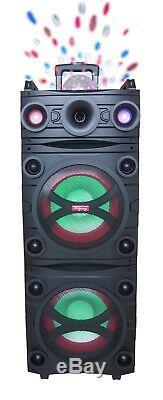 Ridgeway Qs-10220 - Système De Haut-parleurs De Soirée Karaoké Rechargeable Avec Bluetooth 4000w