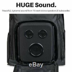 Sac À Dos Pour Haut-parleur Bluetooth Avec Haut-parleurs De 15 W / Subwoofer Pour Fêtes /