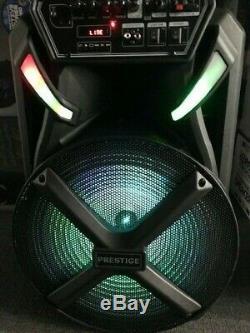 Sans Fil Rechargeable Party Président 15 Pouces Woofer MIC Led Wired Karaoke