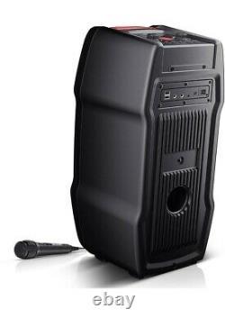 Sharp Ps-929 180w Portable Party Speaker System Lumières Led Avec Différents Modes