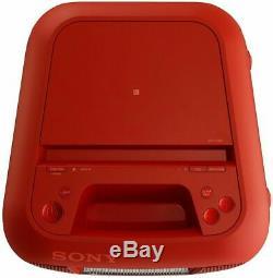 Sony Gtkxb5r Enceinte De Fête Pour Système Audio Domestique Avec Bluetooth Rouge