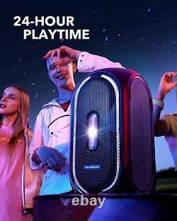 Soundcore Rave+ Portable Bluetooth Party Speaker Bass Sound Light Remis À Neuf