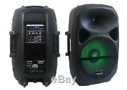 Staraudio 15 2500w Haut-parleur Rgb Actionné Par Sono Haut-parleur Bluetooth Dj Party Ktv Bluetooth