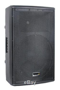 Staraudio 15 4000w Puissance Pa Dj Scène Active Haut-parleur Bluetooth 2ch Uhf Partie MIC