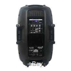 Staraudio 15 Pouces 2500w Amplifies Actif Dj Speaker System Scène Party Président