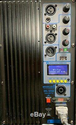 Staraudio 3500w 15 Pa Haut-parleur Actif Bluetooth Alimenté Par Dj Haut-parleur Karaoké