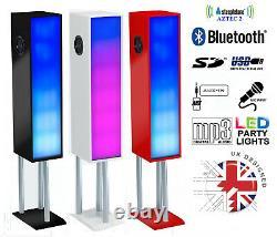 Steepletone Large Bluetooth Megasound Party Speaker System Avec Led Disco Lights