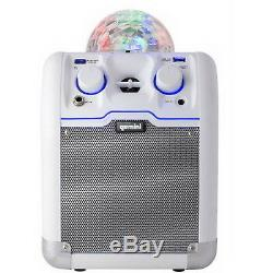 Système De Haut-parleurs Gemini Audio House Party Avec Boule Disco Bluetooth Bluetooth Blanc